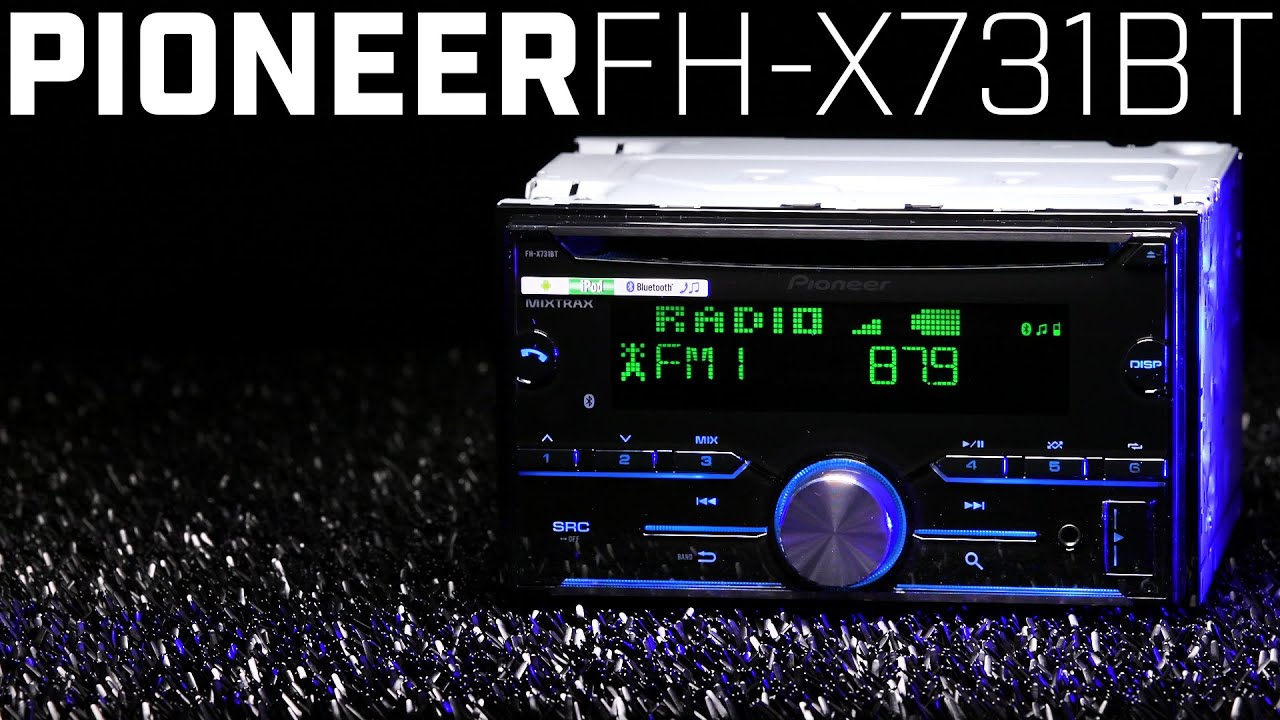 Pioneer Fh X731bt Double Din Bluetooth Stereo 2016 Review Youtube Crutchfield Wiring Harness Gauge