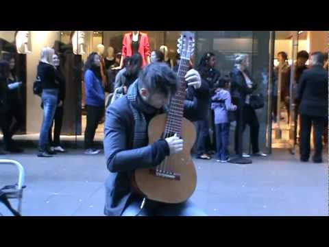 A Talented Guitarist Tom Ward playing in Pitt Street Mall Sydney 2011 - (Part 4)