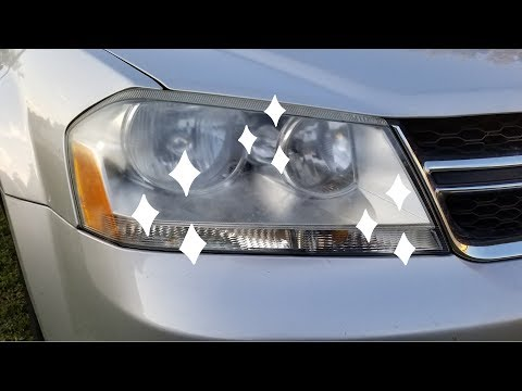 Headlight Cleaning - Clear Lens!