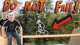 Sketchy High Beam Obstacle Course!! DO NOT FALL!!