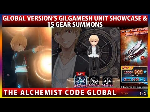 Global's Gilgamesh Unit Showcase - Fate Stay Night UBW Collaboration (The Alchemist Code)