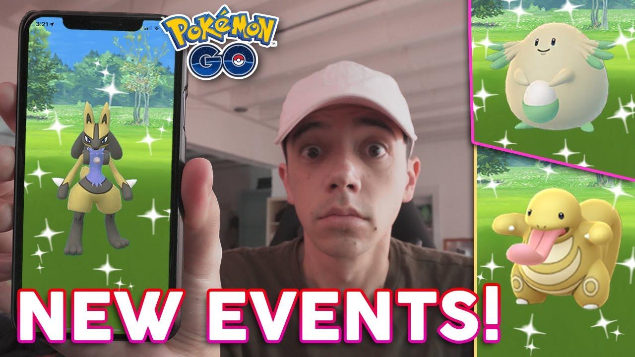 Shiny Lucario Shiny Chansey Shiny Lickitung More February Events In Pokémon Go Youtube