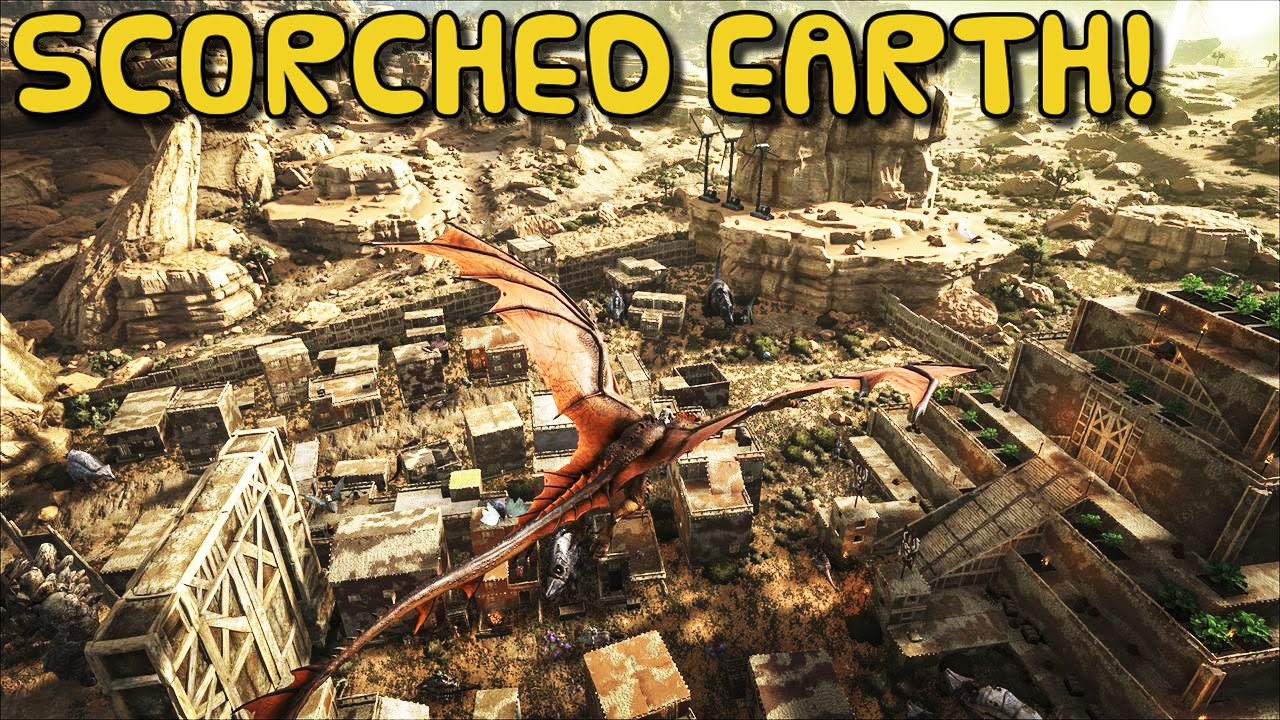 ARK:Survival Evolved Xbox One / PC   SCORCHED EARTH NEW MAP!! GAME