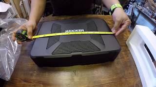 "KICKER 11HS8 8"" 150W Hideaway Car Audio Powered Subwoofer Sub Enclosure HS8 "" Unboxing """