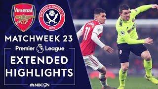 Arsenal v. Sheffield United | PREMIER LEAGUE HIGHLIGHTS | 1/18/2020 | NBC Sports