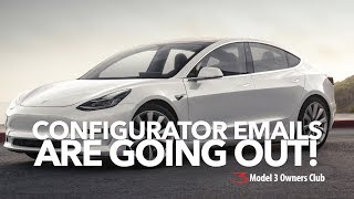 The configurator emails are here !! | Model 3 Owners Club