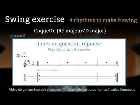 Exercice de swing : rythme 3/4
