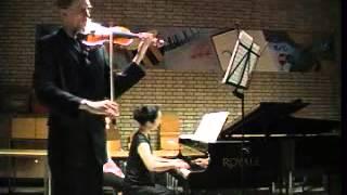 J.S.Bach, Sonate für Violine und Klavier A-Dur BWV 1015