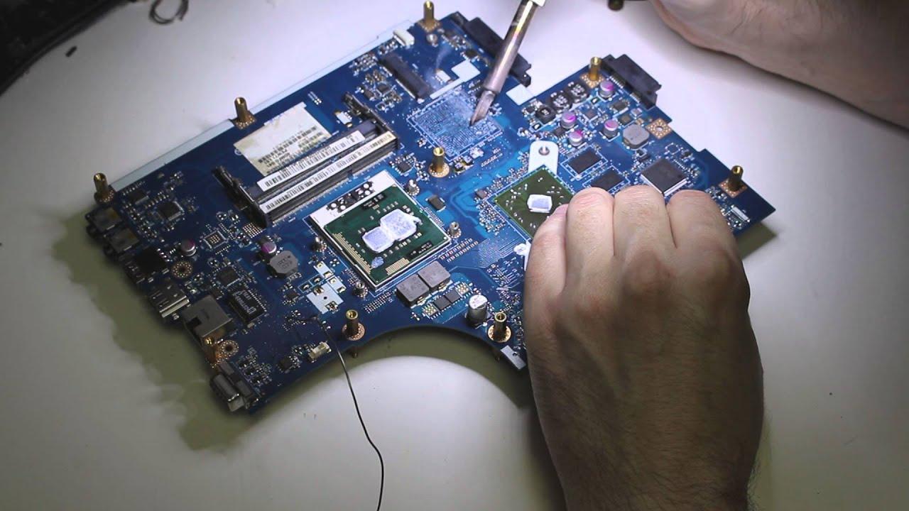 Ремонт системной платы ноутбука после залития в Санкт-Петербурге