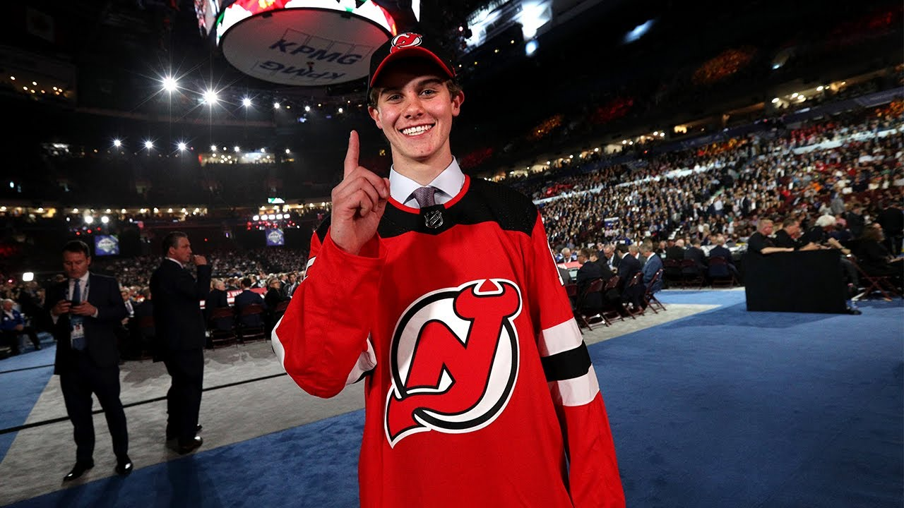 new styles 06379 3907b New Jersey Devils select Jack Hughes with the No. 1 pick in the 2019 NHL  Draft
