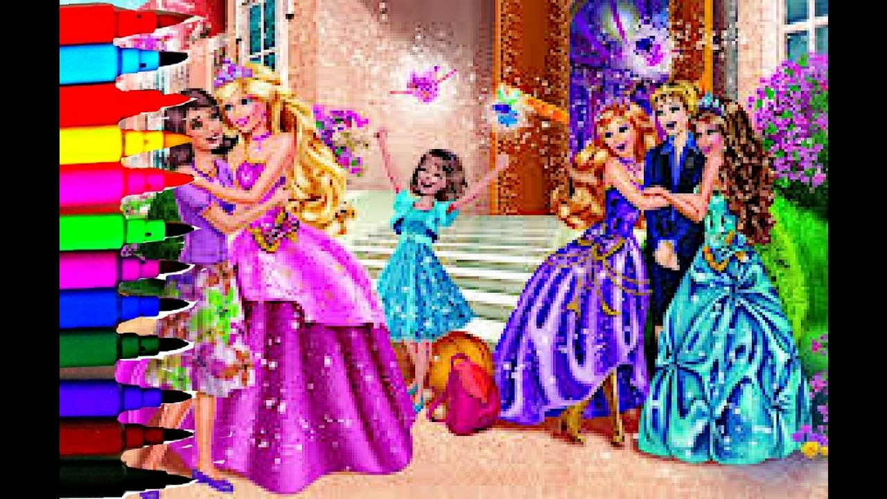 Barbie Coloring Book Pages Disney Princess Kids Brilliant Fun Art Videos Balloons Toys BRILLIANT KIDS COLOURING
