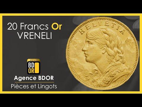 20 Francs Or Suisse Vreneli - Croix Suisse - Pièce d'Or - Agence BDOR