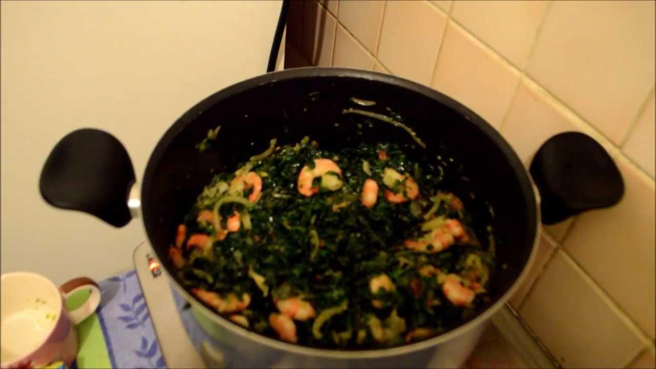 Passion Cuisine du Gabon et dAilleurs Epinards au poisson  YouTube
