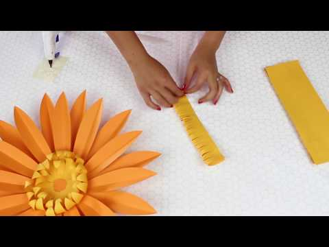 DIY Paper Flowers | Daisy | Template #7