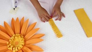 DIY Paper Flowers | Daisy | Template #7