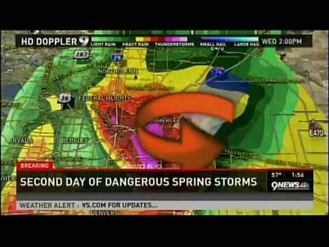 KUSA (Denver, CO) Severe Weather Coverage w/EAS Alerts (Wed.