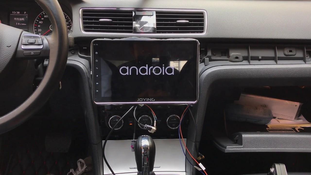 Testing Joying digital amplifier audio on 10 1` Android head unit in VW  Passat 2015