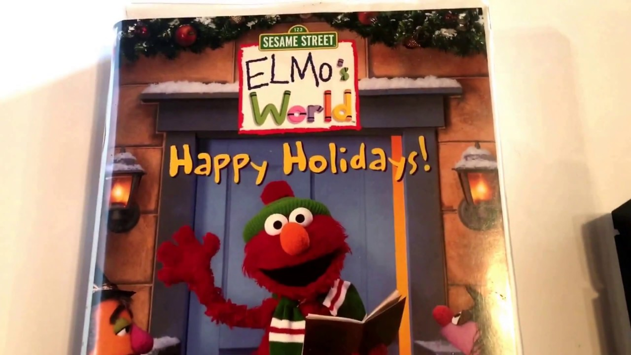 Elmo S World Happy Holiday S Sesame Street Vhs Movie Collection