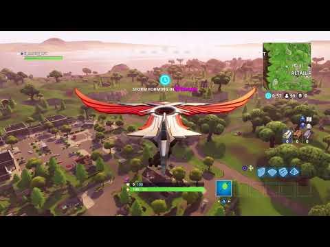 Fortnite Battle Royal 147metre mid glide snip (Insane shot!)