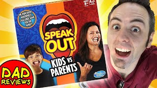 FUN FAMILY GAMES   Speak Out Game Kids vs Parents Review