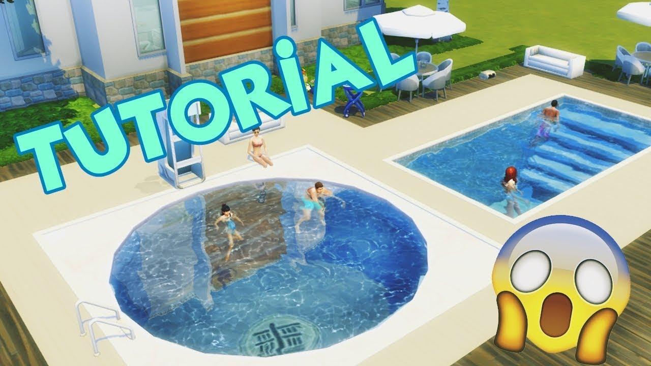 Piscina redonda escada na piscina the sims 4 tutorial for Piscina sims 4
