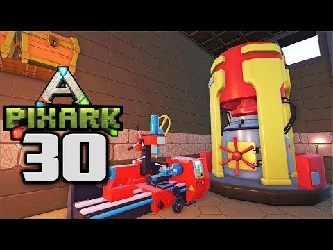 STEEL UPGRADES! INDUSTRIAL SMELTER! - Let's Play PixARK Gameplay Part 29 (PixARK On Pooping Evolved)