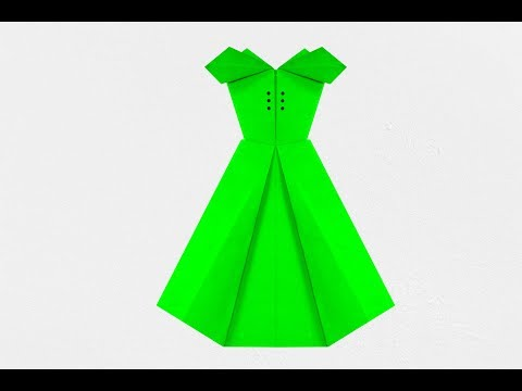 Paper Crafts : how to make a paper dress | paper dress | origami dress | Nira Paper Craft |