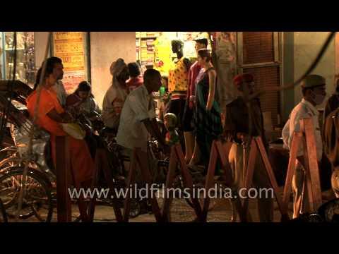 Women dress shop in Varanasi, India