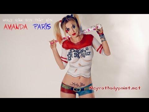 Harley Quinn Body Paint with Amanda Paris | Comic Series