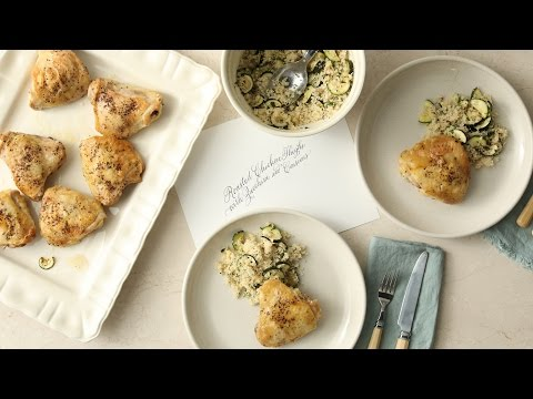 Pan-Roasted Chicken Thighs with Zucchini & CouscousMartha Stewart