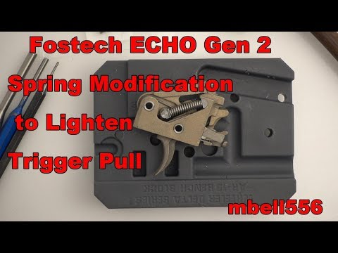 Fostech ECHO Spring Mod to Improve Trigger Pull Weight: Video Review and Field Test