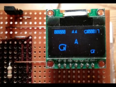 Raspberry Pi Python Asteroids Playing On Small SPI OLED Display