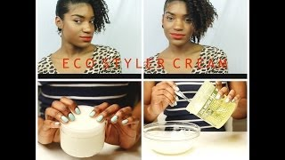 How To: Turn Eco Styler Gel into A Moisturizing Hair Cream w/ Coconut Oil + Two Stand Twist Out Demo