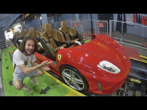 El parque de montañas rusas de FERRARI! | Ferrari World Abu Dhabi