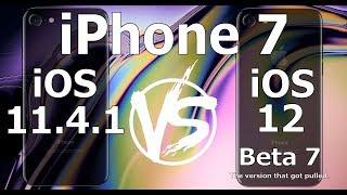 Speed Test : iPhone 7 : iOS 12 Beta 7