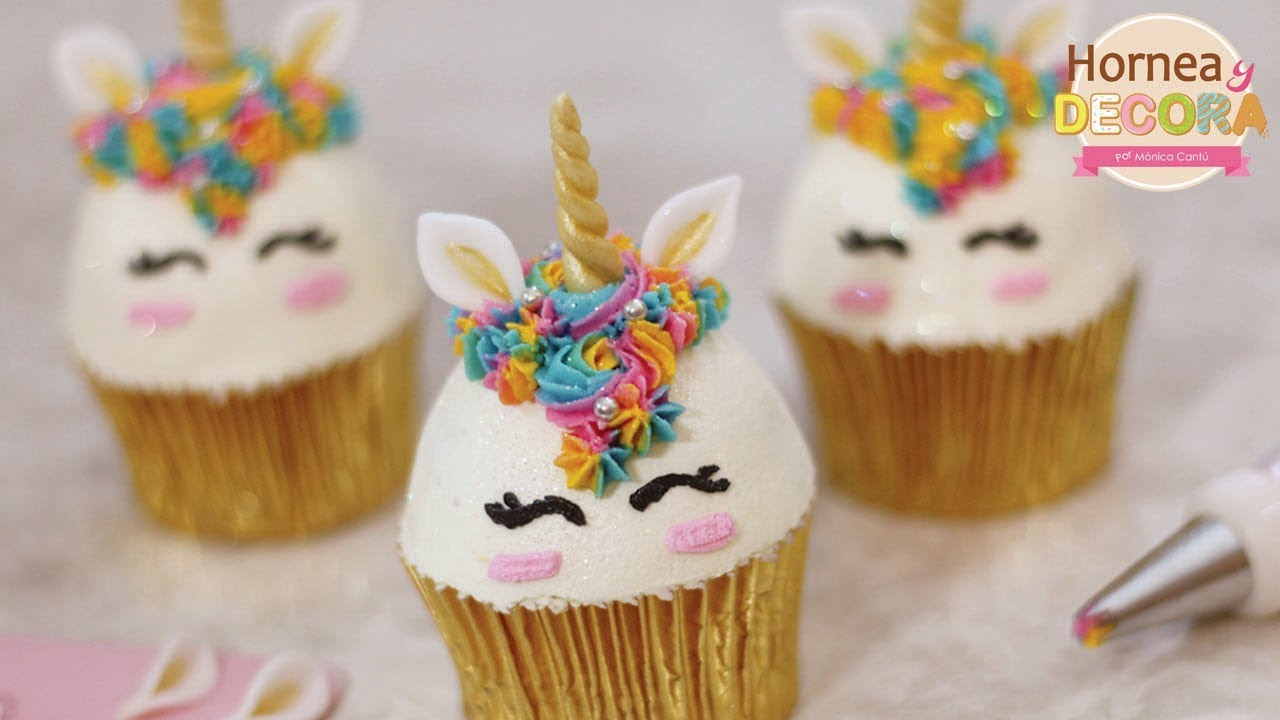 cupcakes de unicornio 42   youtube