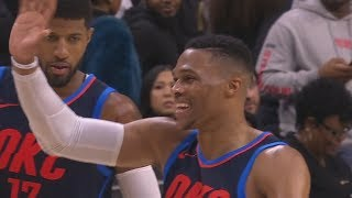 Russell Westbrook Triple Double in Triple Overtime vs Joel Embiid 76ers! 2017-18 Season