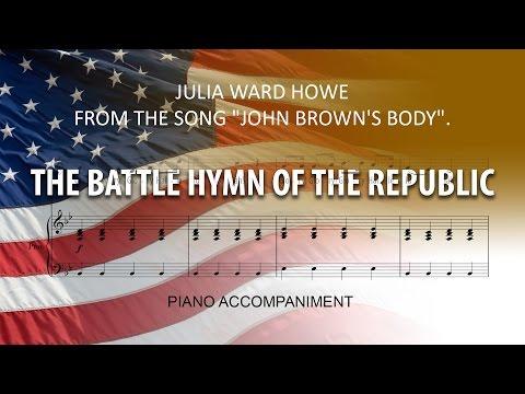 The Battle Hymn of the Republic Karaoke piano / glory, glory, hallelujah