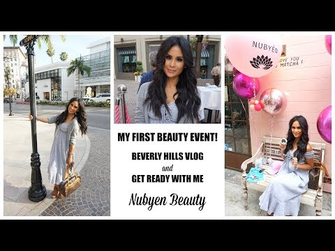I WENT TO MY FIRST BEAUTY EVENT   BEVERLY HILLS VLOG   GRWM