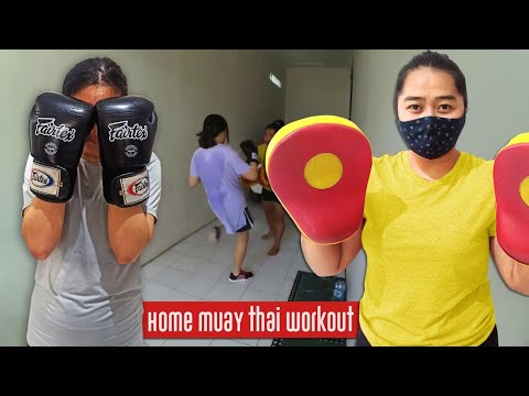 Muay Thai VLOG : Private Session with Coach Tya - Garage Muay Thai Padwork Session