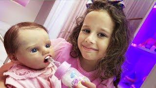 Обложка на видео - Minha nova irmãzinha bebê reborn Diana