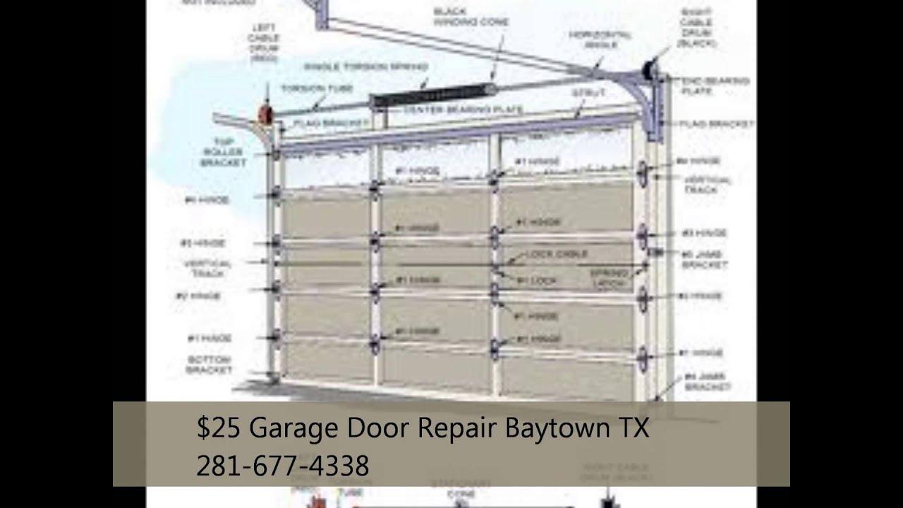 25 Garage Door Repair Baytown Tx 281 677 4338 Youtube
