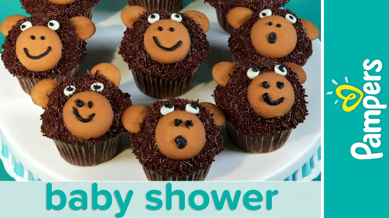 jungle theme baby shower ideas monkey cupcakes pampers youtube