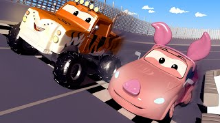 Гонка в честь Китайского Нового Года! - Поезд Трой в Автомобильный Город 🚄 детский мультфильм
