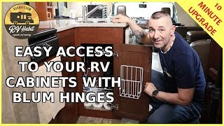 RV Cabinet Door Modification Upgrade Using Blum 170 Degree Hinges – How to Replace and Install Tips