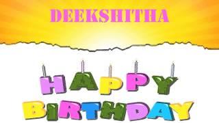 Deekshitha   Wishes & Mensajes - Happy Birthday