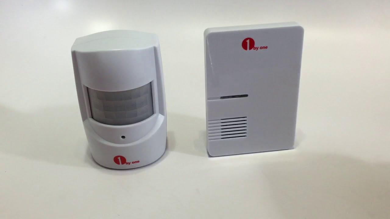 1byone Driveway Alert Doorbell Easy Chime Wireless PIR Motion Sensor Doorbell - Unboxing - YouTube & 1byone Driveway Alert Doorbell Easy Chime Wireless PIR Motion Sensor ...