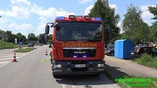 PKW-BRAND - BMW brennt auf EDEKA Parkplatz - Löscheinsatz für die  Feuerwehr [E]