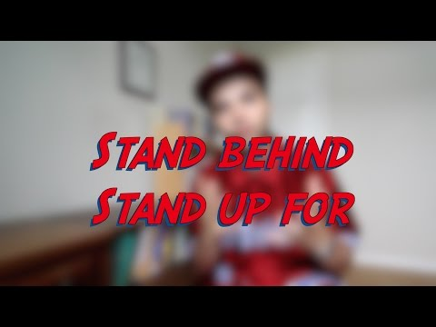 Stand behind / Stand up for - W11D2 - Daily Phrasal Verbs - Learn English online free video lessons
