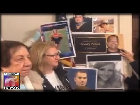 ANGEL MOMS and Victims of Illegal Immigrant Violence Storm Pelosi's Office – Chant Build the Wall!